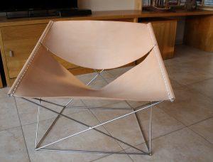Butterfly fauteuil vlinderstoel tuigleer leer bekleden