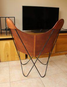 Vlinderstoel tuigleer bekleden leer Jorge Ferrari-Hardoy, Juan Kurchan en Antonio Bonet