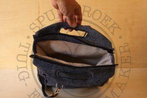 Clutch, handtas, schoudertas, rugtas multifunctioneel volleder handgemaakt fashion leder varkensleren voering